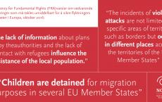 Sitater fra den rapporten fra EUs rettighetskontor fra oktober 2016.